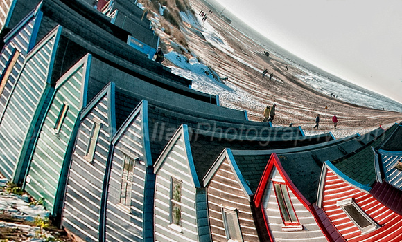 Wavy Huts on Sea